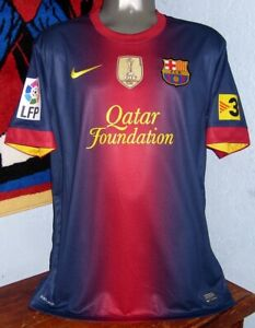 NIKE BARCELONA LFP SPAIN 2012 MESSI HOME L ORIGINAL JERSEY SHIRT
