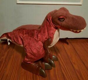 "Playskool Kota  Monty Rex T-Rex Dinosaur Walking Roaring 22"" Long 15"" Tall"