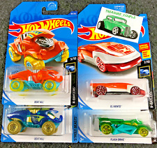 Hot Wheels Lot of 4 - X-Raycers  2 COLORS Beat All - El Viento- Flash Drive G85