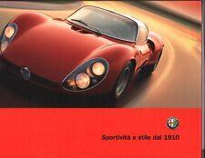 Alfa Romeo Sportivita e Stile dal 1910 58 Page Hardback New Book From 2008