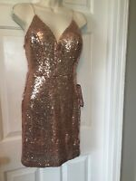 Macy's Size 9/10 NWT SEQUIN FLORAL EVENING DRESS CRUISE WEDDING FORMAL