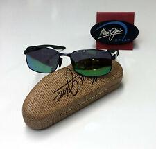 Maui Jim 797-2M 'Shoal' Rectangular Gunmetal / Green Polarized Lenses Sunglasses