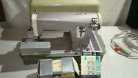 Vintage Sears/Kenmore 148.295 Sewing Machine with foot pedal, case, accessories