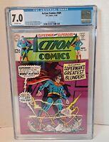 ACTION COMICS # 369 CGC 7.0 SUPERMAN SUPERGIRL DC COMICS