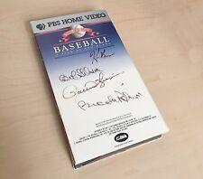"""Baseball"" VHS Signed By Bob Gibson, Brooks Robinson, Rollie Fingers & Ken Burns"