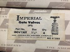 "1-1/2"" Brass Gate Valve, Threaded, Harvard, IBGV 150T"