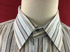Wilke-Rodriguez Blue Striped Button Up Shirt Men's XL