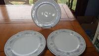 "American Limoges Bridal Bouquet Dinner Plates Salem Heritage 6 10"" Plates"