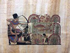 Dessin contemporain papyrus véritable Egypte fait main , 34x45  cm , réfp3