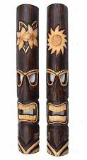 2 Tiki Masks 100cm Hawaii Wooden Masks Mask Wall Mask Wall Masks Sun
