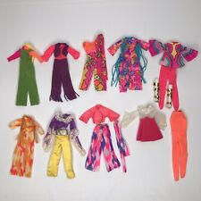 "Vintage Mattel Rock Flowers Doll Fashions Lot TLC As Is Topper Dawn Pippa 6.5"""