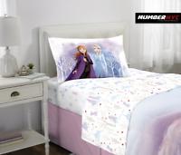 Frozen 2 Disney 3 Piece Microfiber Twin Bedding Sheet Set Pillowcase Kids Girls