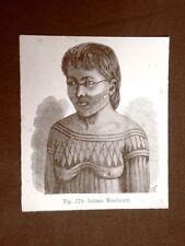 In America nel 1883 Donna indiana Mondurucù e Uomo indiano Arara Indiani
