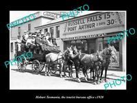 OLD POSTCARD SIZE PHOTO OF HOBART TASMANIA VIEW OF THE TOURIST BUREAU c1920