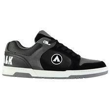 AIRWALK Mens Throttle Skate Shoes Lace up Black/grey UK 9 (43)