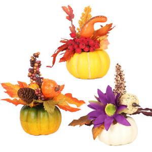 Halloween Pumpkin Autumn Maple Decor Thanksgiving Halloween Party Ornaments UK