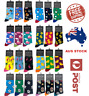 UNISEX MENS WOMENS COLOURFUL  FANCY NOVELTY FUNNY CASUAL COTTON CREW SOCKS