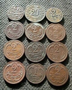 OLD COINS OF AUSTRIA (AUSTRO-HUNGARIAN HABSBURG EMPIRE) - MIX 1384