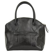 Fatto a mano VERA Sea-Serpente Nero Tote Handbag RRP £ 250