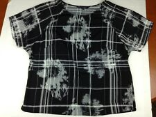 French Connection Woman's Black and White Floral Stripped Top Size UK 10