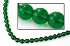 6mm Transparent Emerald Druk Bead (25 Pcs) #Gad091