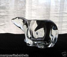 Indiana Glass Clear Polar Bear Votive Candle Holder