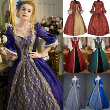 Women Maxi Dress Retro Medieval Victorian Renaissance Ball Gown Cosplay Costume