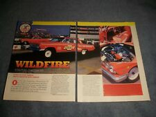 1962 Chevy Impala 409 Super Stock Drag Car Article 'Wildfire""