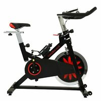 Exercise Bicycle Indoor Cycling Bike LCD Monitor Stationary Bikes Cardio Workout