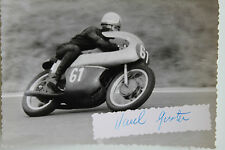 27547 courses motocyclistes Photo Autographe GUSTAV HAVEL CSSR 1962 Vélo Photo
