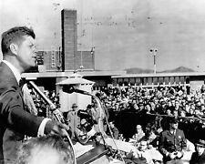 Senator John F. Kennedy campaigns at La Crosse Wisconsin airport New 8x10 Photo