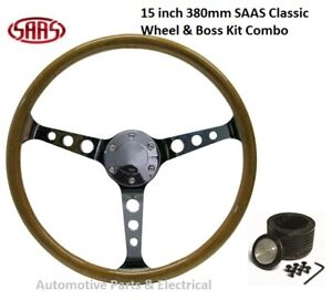 "SAAS CLASSIC 15"" 380MM STEERING WHEEL WITH BOSS KIT LAYLAND MINI 850CC 1962 - 72"