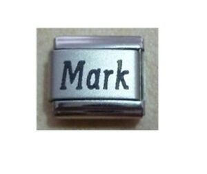 9mm Classic Size Italian Charms  Names Name - Mark