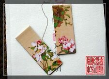 New Set of 2 Magnetic Bookmark Beautiful Flower Peony Chinese Ancient Painting