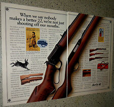 1991 MARLIN Model 60 & 39 (39AS) RIFLE 2-page AD Advertising
