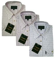 Mens Country Classic Short Sleeve Shirt Tattersall Check PolyCotton Sleeved