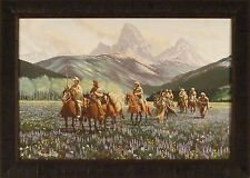 SPRINGTIME IN THE ROCKIES by Roy Kerswill 24x33 FRAMED PRINT Western Mountains
