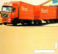 Volvo NORD Expédition Danemark (DK) 1:87 camion autocollant Décalcomanie