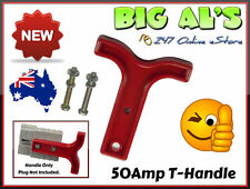 4 x Red T Handle for 50 Amp Anderson Plug Connector Trailer Caravan 4x4 Fridge A