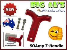 2 x Red T Handle for 50Amp Anderson Plug Connector Trailer Caravan 4x4 Fridge A
