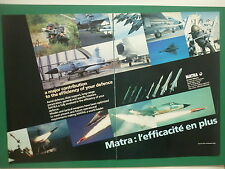 6/1986 PUB MATRA VELIZY MISSILE SUPER 530 MAGIC ARMAT DASSAULT MIRAGE 2000 AD