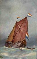 Schiffe ~1910 Marine Galerie Nr. 152 Holland Jacht Yacht Ship 18. Jahrhundert