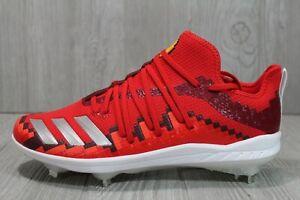 "58 Rare Adidas Icon ""V-8"" Baseball Cleats Red F34690 Mens Sizes 9.5 10.5 12.5"