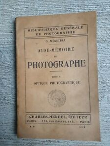 Checklist of The Photographer - G.Menetrat Tome 2 Optical Photographic
