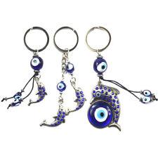 Evil Eye Keychain Pendant With BULE EVIL EYE BEAD Clover elephant dolphin owl