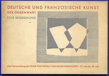 Recklinghausen Deutsch Französische Moderne Kunst Ausstellung Katalog 1950