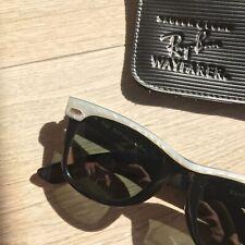 RAY-BAN White & Black Ebony WAYFARER B&L 5022 made in USA vintage.