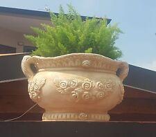 Vaso cemento  polvere di marmo esterno fiori ciotola pianta giardino rustico
