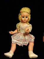"""VINTAGE ADORABLE Italian """"Athena?"""" WALKER DOLL IN Great CONDITION FROM 40-50s"""