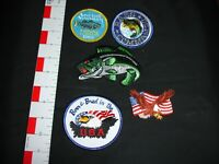 Fishing outdoors vintage patch collection lot set